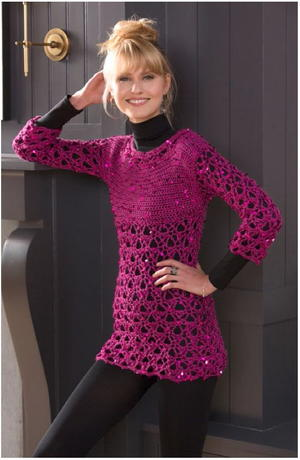 Queen Bee Sparkle Sweater Pattern