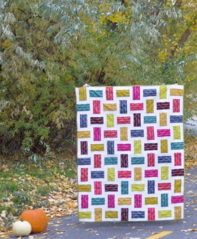 Crossed Paths Rail Fence Quilt