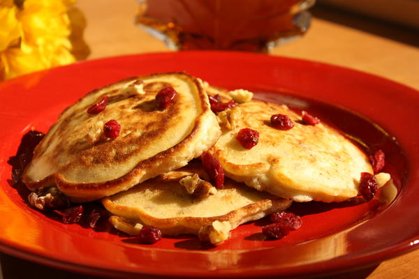 Cranberry Orange Nut Pancakes