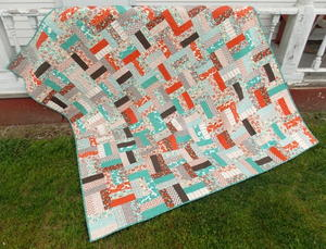 Rolling Rail Fence Quilt