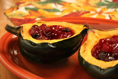 Cranberry Stuffed Squash