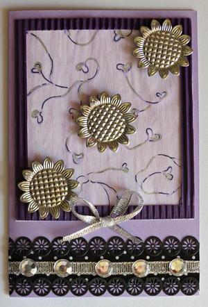 Splendid Purple Birthday Card