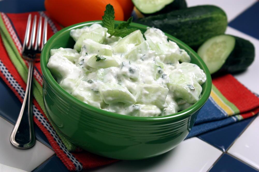 Creamy Cucumber Salad  Mrfoodcom-4347