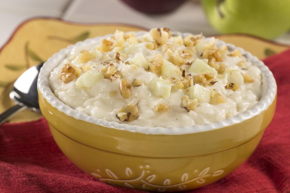 Creamy Rice And Apple Pudding Mrfood Com