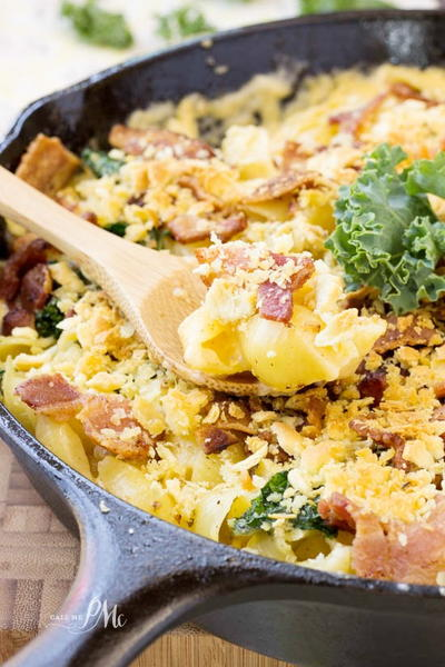 Bacon Kale Mac and Cheese