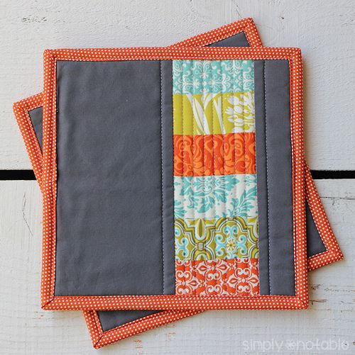 Modern Quilted Potholder Allfreesewing Com