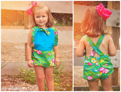 Ruffled DIY Sun Suit