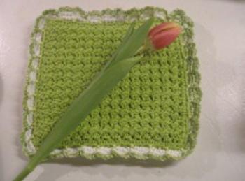 Crunch stitch crochet potholder pattern for Fave crafts knitting patterns
