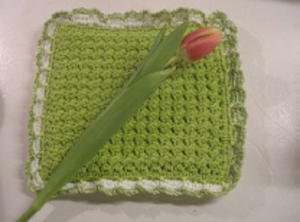 Crunch Stitch Crochet Potholder Pattern