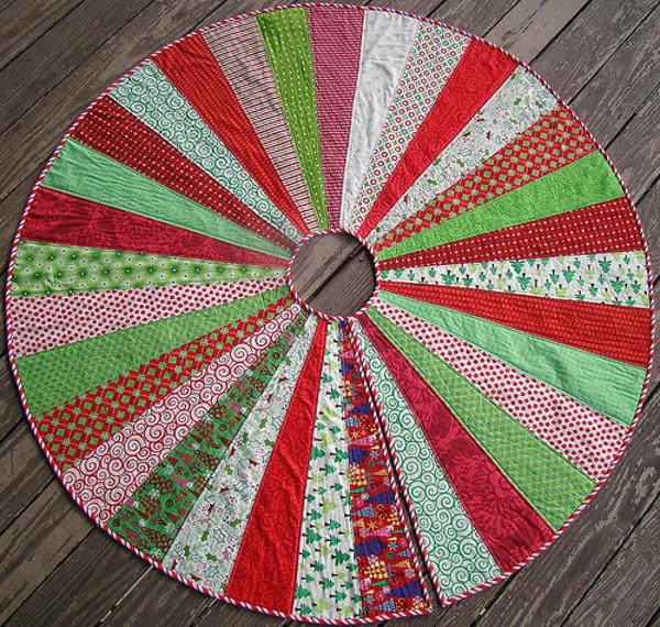 Giant Christmas Tree Skirt Quilt Pattern