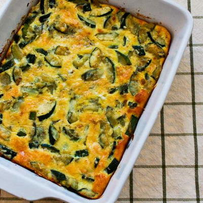 Monster Zucchini and Basil Strata Recipe