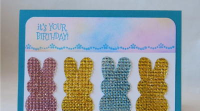 Hanging with My Peeps Birthday Bunny Card