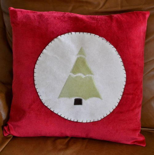 Simple Christmas Tree Applique Pattern