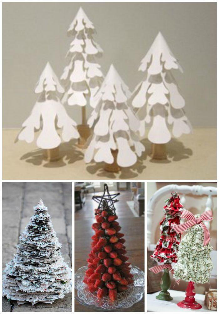 Glitter Newspaper Mini Christmas Tree | AllFreeChristmasCrafts.com