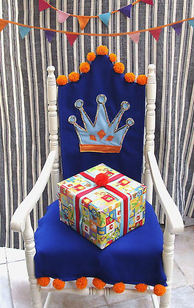 Felt Birthday Chair Slipcover