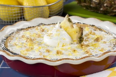Frozen Pineapple-Lemon Pie