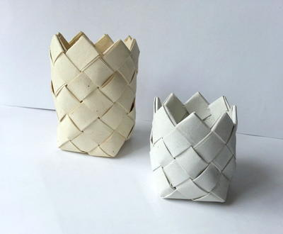 Thrifty Recycled Paper Baskets