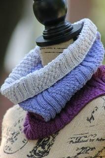 Lilac Dream Knit Cowl AllFreeKnitting.com