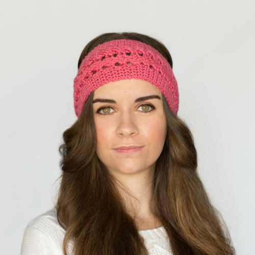 Braided Rose Crochet Headband