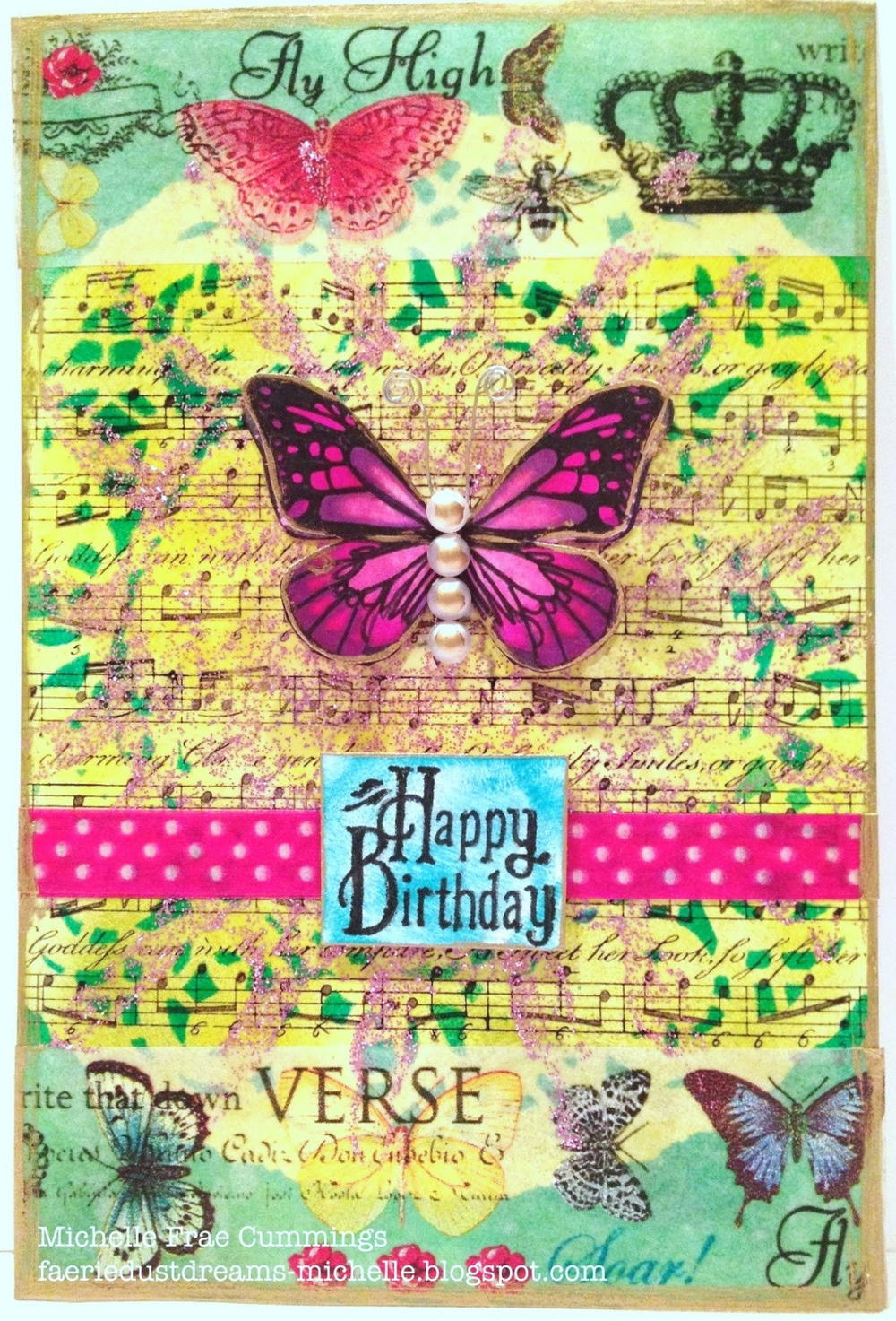 Happy birthday butterfly card allfreepapercrafts com - Happy Birthday Butterfly Card Allfreepapercrafts Com 1