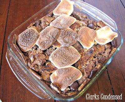 Paula Deen-Inspired Smores Bread Pudding