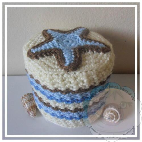 Starfish Crochet Toilet Paper Roll Cover Favecrafts Com