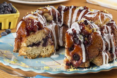 Lemon Blueberry Monkey Bread