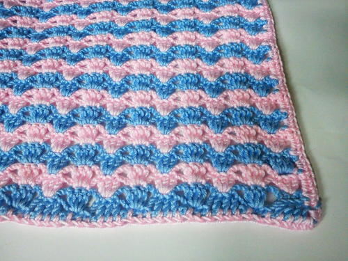 Sugar Candy Stripes Crochet Baby Blanket