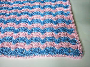 Quick Striped Crochet Baby Blanket