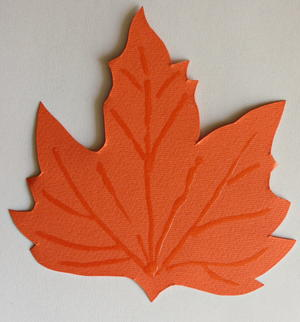 Fall Maple Leaf Greeting Card