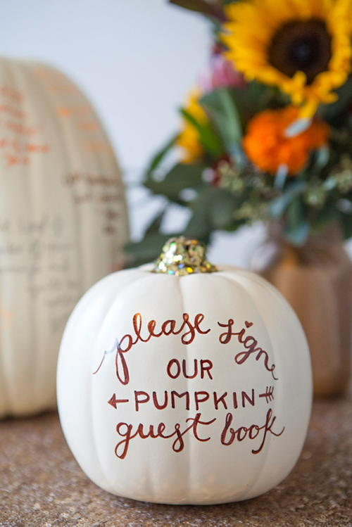 Pumpkin DIY Guest Book