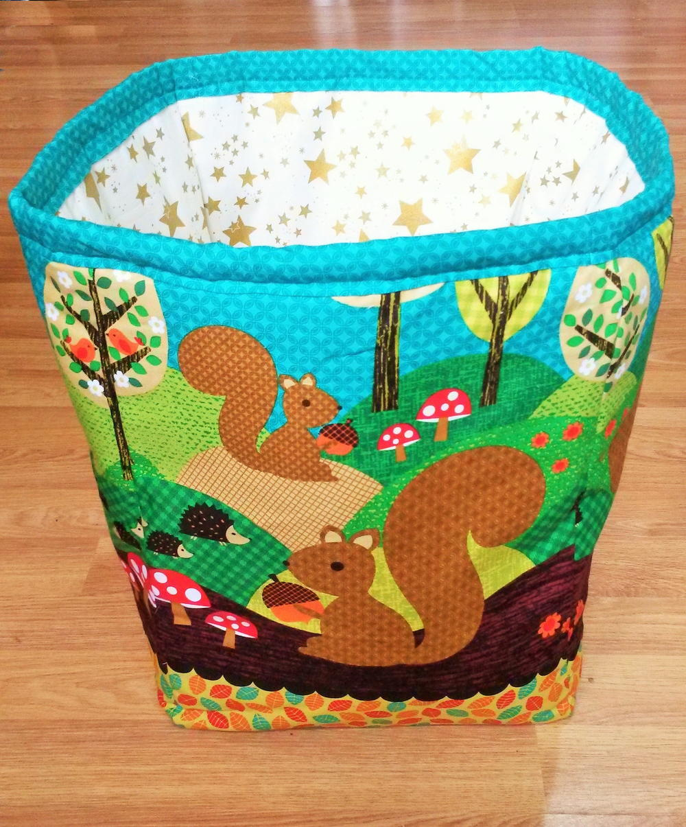Fabric Diy Laundry Basket Allfreesewing Com