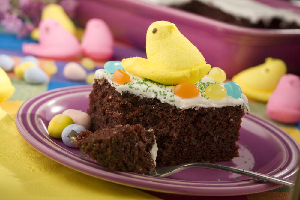 Easter Cake Designs Recipes : Easter Candy Cake MrFood.com
