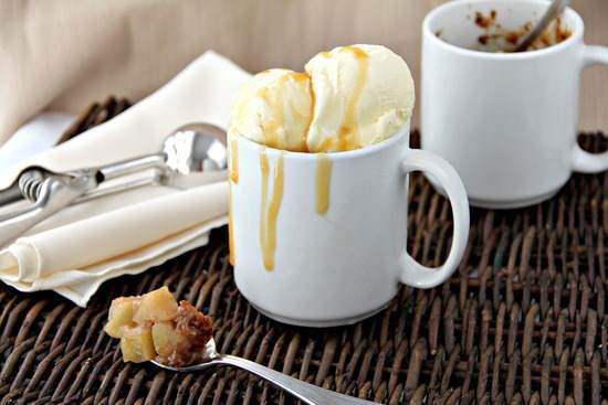 Amaretto Caramel Apple Mug Cobblers ...
