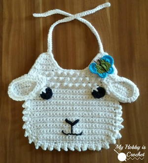 Little Lamb Crochet Bib