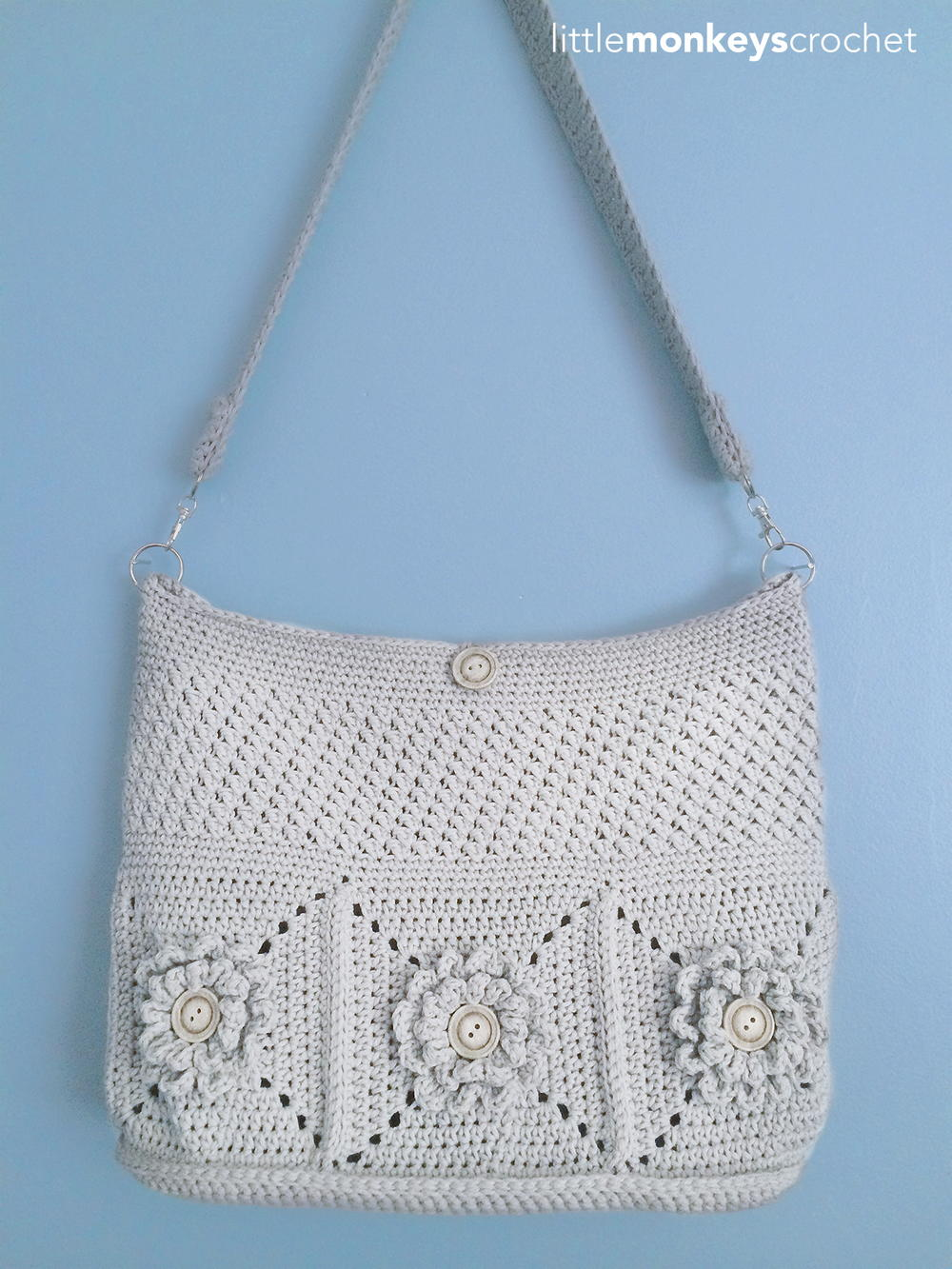 Wildflower Shoulder Crochet Bag AllFreeCrochet.com