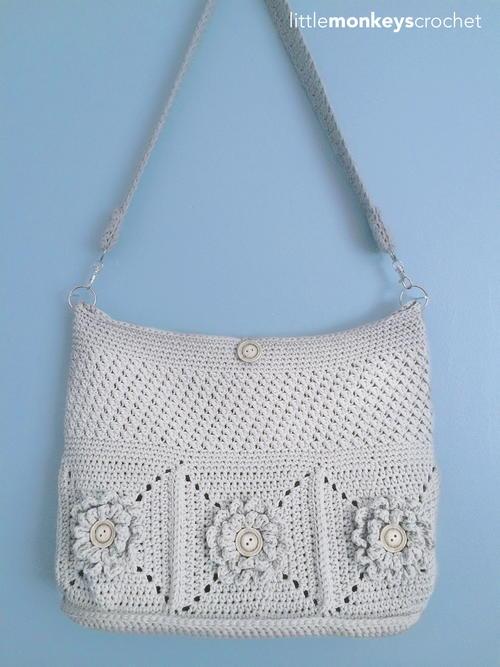 Wildflower Shoulder Crochet Bag Allfreecrochetcom