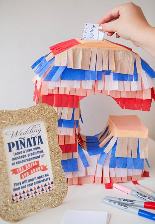 Pinata DIY Guest Book