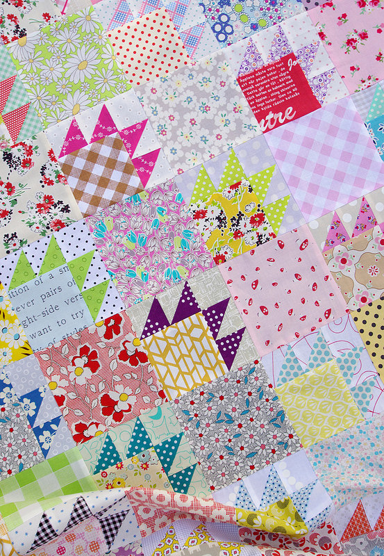 Scrappy Bear Paw Quilt And Block