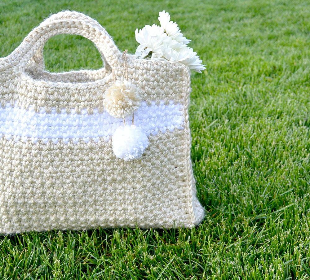 Summer Stripe Crochet Bag AllFreeCrochet.com