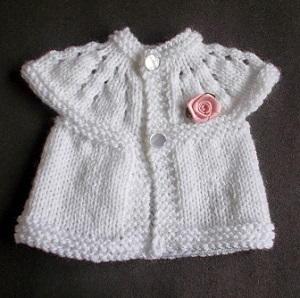 V-Neck Newborn Premature Baby Knitted Cardigan Emroidered Preterm