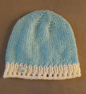 Lace Border Baby Beanie