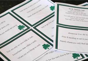 Printable St. Patrick's day Scavenger Hunt