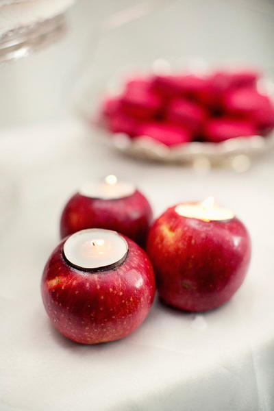 Fresh Carved Apple Candle