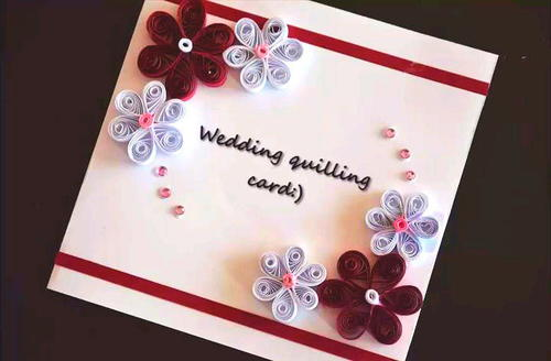 Paper Quilling DIY Wedding Card