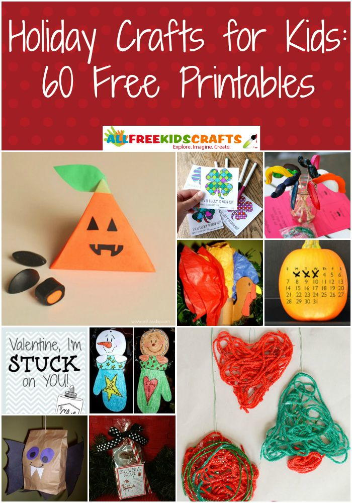 Holiday Crafts for Kids 60 Free