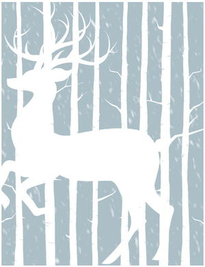 Free Printable Woodland Winter Cards