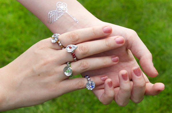 Crystal Fairy DIY Rings