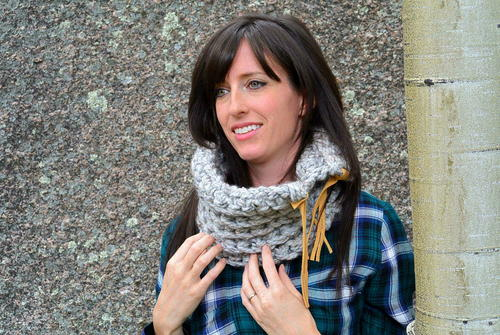 Rustic Fall Crochet Cowl