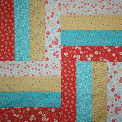 Lovely Rail Fence Quilt Table Topper Pattern Favequilts Com